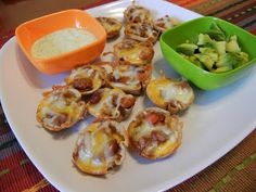 Made these for Cinco de Mayo. Shelly's Mini Chili Cups with Cilantro Lime Yogurt Dip.