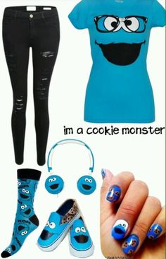 Cookie Monster Fandom Outfit :)