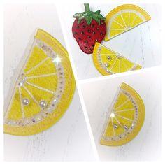 Machine embroidery design Lemon