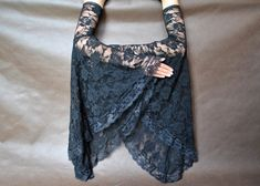 Items similar to Elegant GOTHIC VAMPIRE costume Victorian Evening Glamour lace long GLOVES with mistic flounce, frill, black, lace fingerless mittens on Etsy Gothic Vampire Costume, Vampire Costumes, Vampire Dress, Gothic Mode, Sleeves Designs For Dresses, Long Gloves, In China, Glamour, Gothic Jewelry