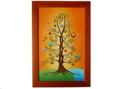 Tree of Life Wall Picture, Tree of Life Home Decor, Glass Paiting Picture, Wedding Gift Picture Tree, Picture Wall, Wall Pictures, Tree Of Life, Wedding Gifts, Clock, Hand Painted, Gift Ideas, Unique Jewelry