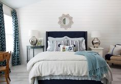 House of Turquoise: Lisa Gabrielson Interior Design.  Love this master or guest bedroom!