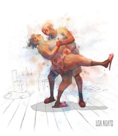 Plus Size Art, Poses Photo, Shall We Dance, Watercolor Illustration, Lisa, Cat Art, Alter, Illustrators, Tango