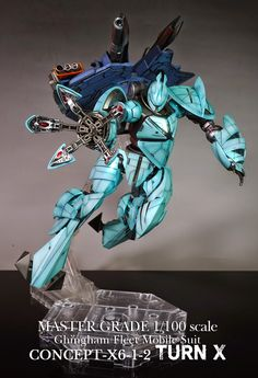 GUNDAM GUY: MG 1/100 concept-X6-1-2 Turn X - Customized Build