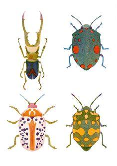 "Bugs Print ""Bugs"" print by Hamburg illustrator Barbara Dziadosz. Art And Illustration, Flower Illustrations, Natur Tattoos, Art Et Nature, Posca Art, Illustrator, Bug Art, Insect Art, Art Design"