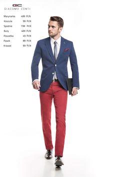 Stylizacja Giacomo Conti:  Marynarka Arcadio 15/01 KM, spodnie Abramo 15/16T, koszula Lorenzo 011 slim, buty 2703.