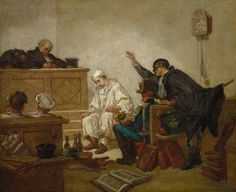 COUTURE, Thomas French Academic (1815-1879)_Pierrot in Criminal Court Cleveland Museum of Art