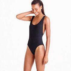 1181a7d52c3ec Trending Ideas – Swimwear 2018 : J.Crew Plunging scoopback one-piece  swimsuit in Italian matte
