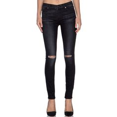 """NWT 7 For All Mankind The Skinny Black Jeans Brand new with tags 7 For All Mankind 'The Skinny' super skinny stretch jeans. Black distressed/destroyed wash. Cotton/Polyester/Spandex. Size 28. They have a 9"""" rise and 31"""" inseam. They are brand new with tags and retail for $210.00. Amazing fit! 7 for all Mankind Jeans Skinny"""