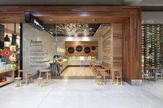 Frozen by a Thousand Blessings store by Kalliopi Vakras Architects, Melbourne ice cream store design Restaurant Interior Design, Cafe Interior, Commercial Design, Commercial Interiors, Visual Merchandising, Architects Melbourne, Restaurant Concept, Retail Store Design, Shop Interiors