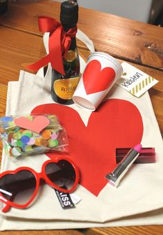 DIY Bachelorette Party Gift Bags. These would be a cute idea for a girls night too!