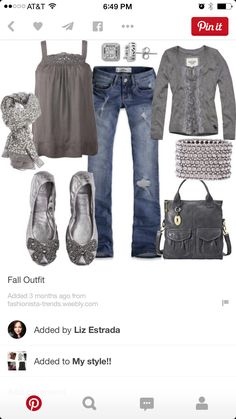 Could see the tank and jeans paired with a cute white or black jacket.