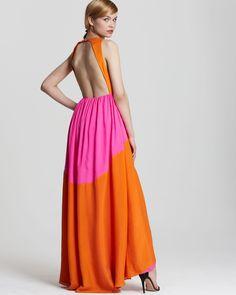 Tibi Maxi Dress - Color Block   Bloomingdale's