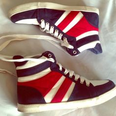 "Selling this ""Forever 21 Red White Blue Sneakers"" in my Poshmark closet! My username is: beachgateway. #shopmycloset #poshmark #fashion #shopping #style #forsale #Forever 21 #Shoes"