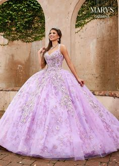 Lavender Quinceanera Dresses, Robes Quinceanera, Quince Dresses, Quinceanera Ideas, Party Dresses, Long Halter Dress, Sweet 15 Dresses, Mary's Bridal, Purple Dress