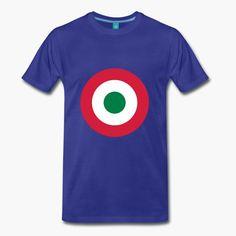 "Italia - Italy with a military twist. The shirt sports the Italian air force (Aeronautica miltare) roundel. https://shop.spreadshirt.fi/revolt-noir/""italia""-A106381485?appearance=317"