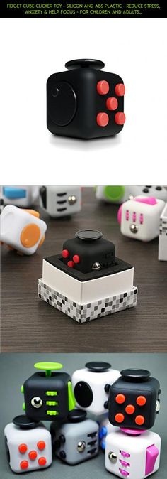Fidget Cube Clicker Toy - Silicon and ABS Plastic - Reduce Stress, Anxiety & Help Focus - For Children and Adults - Color: Black and Red … #racing #cube #fidget #tech #red #kit #camera #products #and #drone #parts #shopping #plans #gadgets #technology #black #fpv