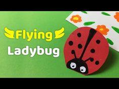 Easy DIY for kids - FLYING Lady bug - YouTube
