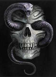 Skull With Snake...Bad Ass...