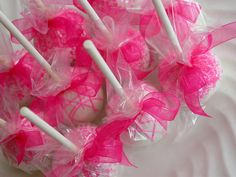 Cake Pops -  It's a Girl Baby Shower, Sweet 16, Bridal Shower Cake Pop Party Favors (48)