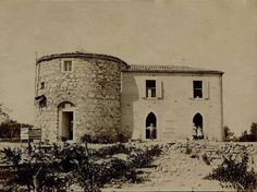 1922. Buca'da bir değirmen. Günümüzde Yörük Ali Efe Parkı içinde. / Patrick Ashe recalls the location of the old Mill house at the top of the hill on which the Forbes house also stands, about 300-400 yards to the Smyrna side of it, and at the bottom of this hill is the railway line that still runs to the city. His niece, Ruth Coyote-Ashe visited this house around 1982, but noted it had become further ruined by locals carting away stones for their own dwellings.