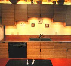 Bamboo Kitchen - clever cabinet arrangement.
