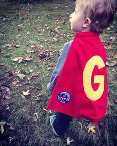 Check out Super Gabe enjoying the fall weather in his TinySuperhero cape and patch! http://qoo.ly/c8acq
