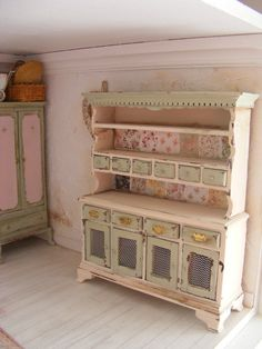 Miniature shabby chic dresser / 12th scale