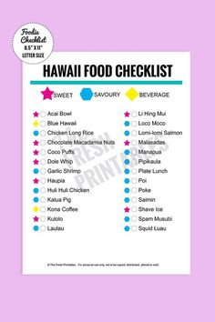 10 Things You Must Eat in Oahu, Hawaii - Cactus Pop Blue Hawaii, Hawaii Life, Big Island Hawaii, Aloha Hawaii, Honolulu Hawaii, Kauai Island, Travel Checklist, Travel Planner, Travel Tips