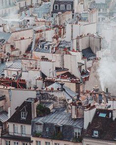 from Parisian rooftops Les amis vous qui aimez je vous invite à suivre Ses photos sont toujours magnifiques ! Paris Rooftops, Paris Travel Guide, Little Paris, Paris Pictures, Paris Photography, Street Photographers, France, Cool Photos, Fujifilm