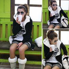 Women's Fashion Thicken Winter Warm Coat Hood Parka Overcoat Long Jacket Outwear Price:US $23.83