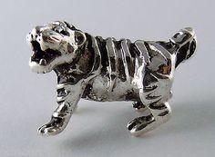 Silver Plate Tiger Large Hole European Bead, A Favorite Louisiana Theme LSU