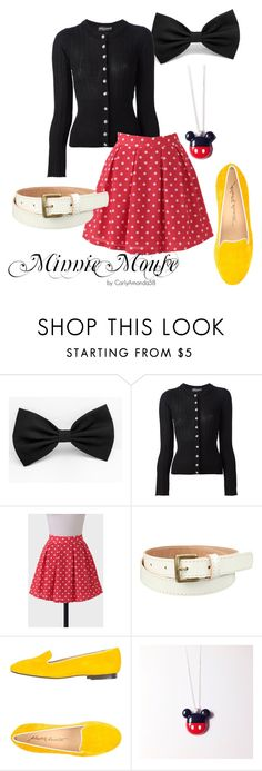 Minnie Mouse Disney Bound by carlyamanda58 on Polyvore featuring Dolce&Gabbana, Alberto Moretti, Uniqlo, women's clothing, women's fashion, women, female, woman, misses and juniors