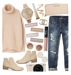 Fall Sweaters by tropicalcraze on Polyvore featuring polyvore fashion style MANGO Hollister Co. Splendid Michael Kors Olivia Burton Kimberly McDonald Quay NARS Cosmetics Eve Lom Nikon Chanel Dermablend clothing fallsweaters