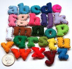 Mini Alphabet Set - 26 Stuffed Felt Letters #cool #DIY
