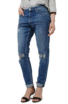 Free shipping and returns on Topshop 'Lucas' Ripped Boyfriend Jeans at Nordstrom.com. Ripped-out knees style slouchy, slim-leg…