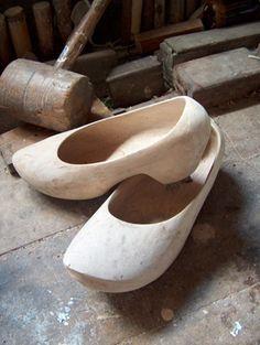 Zocos de madeira galegos. Zuecos de madera gallegos.Galicia, España. Zocos are woodshoes from Galicia, Spain..... People use them till today.
