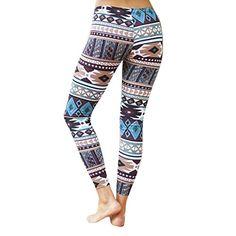 4d62ed775ec77b Creazy Fashion Women Skinny Tribal Geometric Printed Stretchy Pants Leggings  M * Read more reviews of