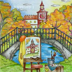 My first autumn/fall colours picture. From Romantic Country, The Third Tale.  #romanticcountrycoloringbook #eriy #romanticcountry #ロマンティックカントリー #로맨틱컨트리 #大人の塗り絵#coloringmasterpiece #desenhoscolorir #colorindolivrostop #prazeremcolorir #bayan_boyan #artecomoterapia #boracolorirtop #livrocoloriramo #arte_e_colorir #colorindomeujardimencantado #moncoloriagepouradultes #kleurenvoorvolwassenen