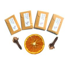 Scented #CandleSachets in Orange Clove - DIY Party Favors - Orange Brown Modern Rustic - Closet #DrawerSachets #handmade fresh on #etsy by #pebblecreekcandles , $12.00