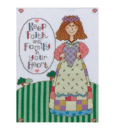 Design Works counted-cross-stitch Kit Keep Faith