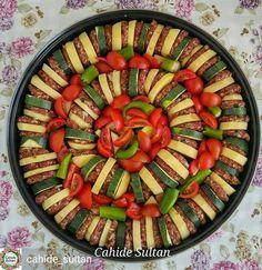 En güzel mutfak paylaşımları için kanalımıza abone olunuz. http://www.kadinika.com Ramazan Sofrası Ellerinize sağlık @cahide_sultan #Ramazansofrasii Esselamu aleykum dostlar Vaktimiz hayırlı bereketli olsun. Misafirim var bugün. Fikir olması açısından yemeğimi paylaşayım. En kolay ve gösterişli fırın yemeklerinden biridir köfteli dizme. Tarif vermeye gerek yok değil mi Malzemelerin tümünü çiğden kullandım. Kızartma yapmadım. Üzerine salçalı ve yağlı sos hazırlayıp üzeri kapalı olarak fırına…