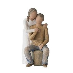 Willow Tree Caring You and Me (darker skin and hair) Figurine