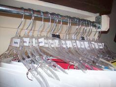 Great way to store anchor charts- I don't hang coats in my closet anyway!
