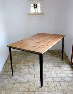 ラスティックアイアン アイアンダイニングテーブル(棚板なし) 1600×800:インテリアショップ MOBILE GRANDE~モビリグランデ~ パイン家具、オーク家具、ホワイト家具、シャンデリア専門店