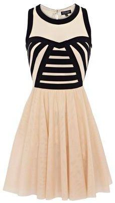 Beautiful Black Pattern Sleeveless Dress