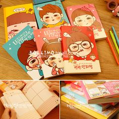 2013 Hot Selling Good Quality Korean Kawaii Stationery Cute Dairy Lose Weight Schedule Notebooks  Journal Books Spiral Notebook-inNotebooks from Office & School Supplies on Aliexpress.com