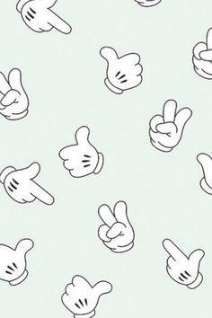 mickey mouse hand wallpaper - Buscar con Google