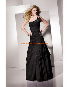 Robe pas cher asymétrique au drapé décorée de cristaux robe de soirée 2013 taffetas