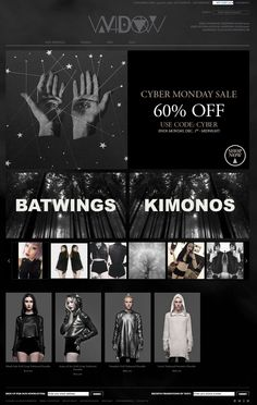 House of Widow #webdesign #dark #goth #ecommerce #clothes #shopping